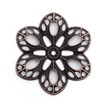 Antique Copper Filigree Flower - Set of 3