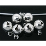 Tiny Silver Plated Jingle Bells - Set of 15