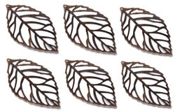 6 Piece Copper Leaf Embellishments