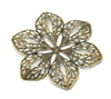 4 Piece Flower Filigree Pieces