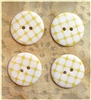 Yellow Patterned Resin Buttons - 23mm