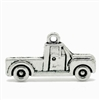 Antique Silver Tone Pickup Truck Charms - Set of 3
