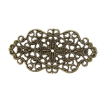 Irregular Antique Bronze Filigree - Set of 4