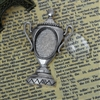 Antique Silver Trophy Brooch With Glass Cabochon