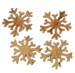 Birch Bark Snowflakes - Natural