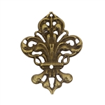 Antique Bronze Filigree Fleur - Set of 3