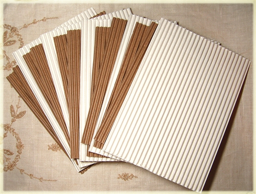 Corrugated Cardboard Sheets Mixed White And Kraft