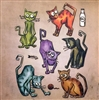 Sizzix Framelits Die Set - Crazy Cats by Tim Holtz 661209