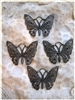 4 Piece Butterfly Set Filigree Metals for Scrapbooking and Mixed Media