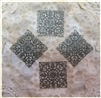 4 Piece Antiqued Bronze Filigree Squares