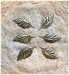 6 Piece Bronze Leaf Embellishments