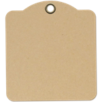 Graphic 45 - Square Tags - Kraft