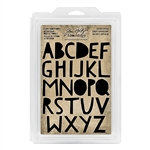 Tim Holtz Idea-ology Cling Foam Stamp - Cutout Upper