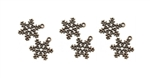 6 Piece Copper Snowflake Charm Set