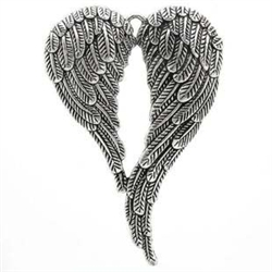 Antique Silver Tone Angel Wings