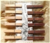 Mini Clothes Pins - 1.875 inches - Set of 12 - 6 distressed, 6 natural