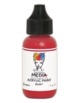 Dina Wakley Media Acrylic Paint  - Ruby, 1oz Bottle