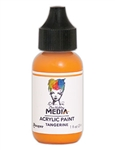 Dina Wakley Media Acrylic Paint  - Tangerine, 1oz Bottle