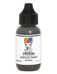 Dina Wakley Media Acrylic Paint  - Umber, 1 oz Bottle