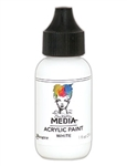 Dina Wakley Media Acrylic Paint  - White, 1oz Bottle