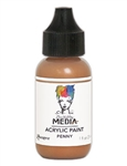 Dina Wakley Media Acrylic Paint  - Penny, 1oz Bottle