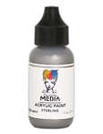 Dina Wakley Media Acrylic Paint  - Sterling, 1 oz Bottle
