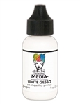 Dina Wakley Media Acrylic Paint  - White Gesso, 1oz Bottle