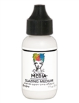 Dina Wakley Media Acrylic Paint  - Glazing Medium, 1 oz Bottle