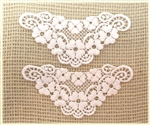 White Venise Lace Floral Applique