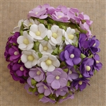 Mixed Purple/Lilac and White Sweetheart Blossom Flowers SAA-333