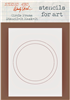Studio 490 Wendy Vecchi Stencil - Circle Frame Stencil-It Mask-It
