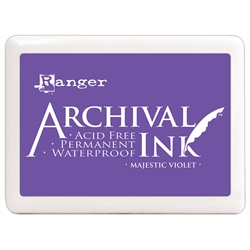 Ranger Archival Ink Pad #3 Large - Majestic Violet A3P64718
