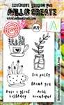 AALL & Create A5 Stamp Set - Garden Cuttings #178