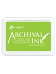 Ranger Archival Ink - Pad  Vivid Chartreuse