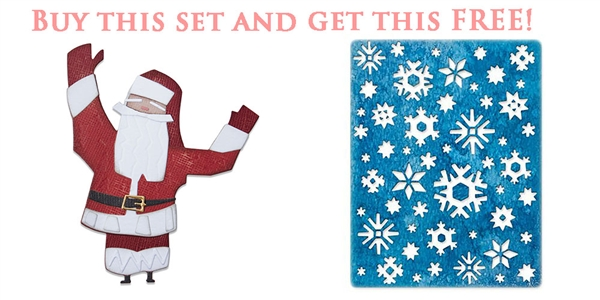 BOGO - Tim Holtz Thinlits Die Set Papercut Christmas #1  664744 / Thinlits Die Arctic 664967