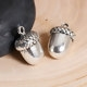 Antique Silver Acorn Charms - Set of 4