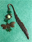 Special Purchase - Antiqued Bronze Feather & Dragonfly Bookmark