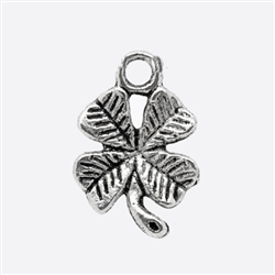 Antique Silver Four-Leaf Clover Charms - Set of 5