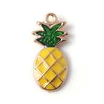 Enamel Pineapple Charms - Set of 5