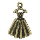 Bronze Tone Dress Charms - Set of 5