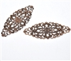 4 Piece Antiqued Copper Tone Filigree Pieces