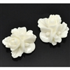 Ivory Resin Flower Embellishments