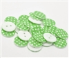 Green Patterned Resin Buttons - 18mm Set of 4