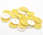 Yellow Dotted Resin Buttons - 18mm Set of 4