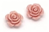 Pink Resin Flower Embellishments - 1/2""""