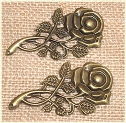 Bronze Metal Roses for Scrapbooking and Mixed Media