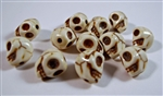 Synthetic White Howlite Loose Skull Beads - Set of 12