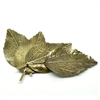 4 Piece Bronze Leaf Embellishments