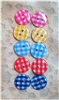 Mixed Colors Gingham Resin Buttons - 13mm