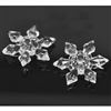 Clear Faceted Acrylic Snowflake Embellishments- Set of 6